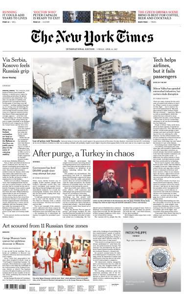 International New York Times – 14 April 2017