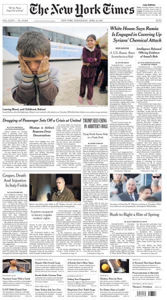 The New York Times – April 12, 2017