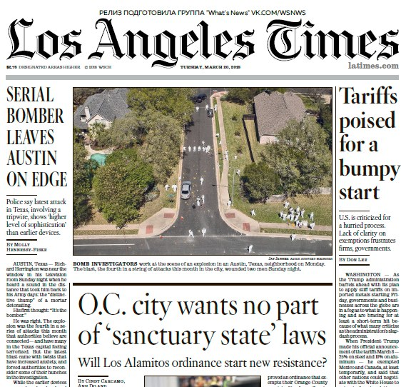 Apr 01, · The Los Angeles Times is the largest metropolitan daily newspaper in the country, with a daily readership of million and million on Sunday, more than 39 million unique sofltappetizer.tk .