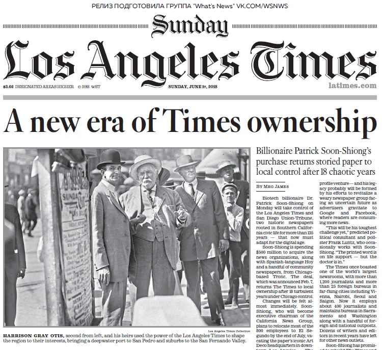 Los Angeles Times – 17.06.2018
