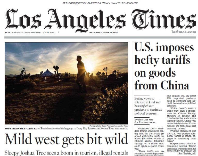 Los Angeles Times – 16.06.2018