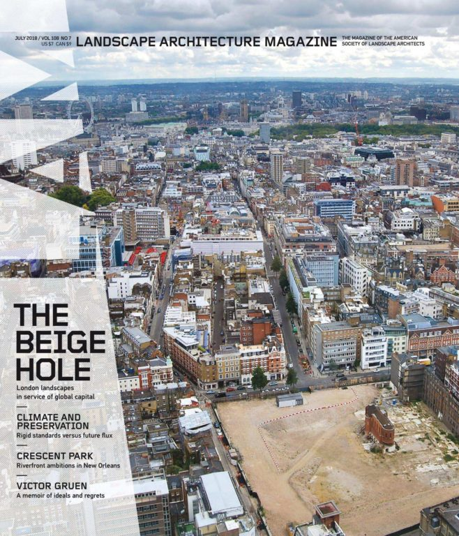 Landscape Architecture Magazine USA – July 2018