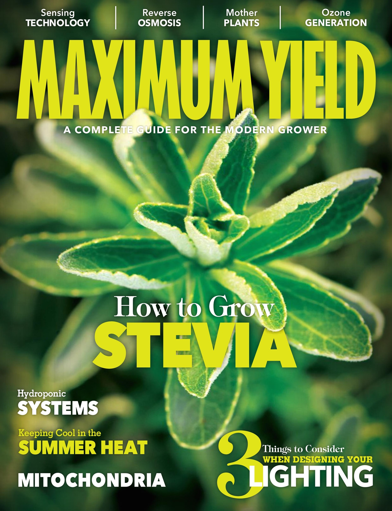 Maximum Yield Modern Growing USA – July 2018