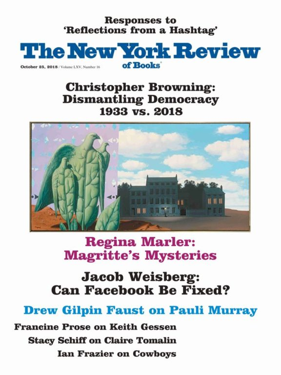 The New York Review Of Books – October 25, 2018
