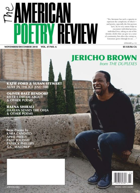 The American Poetry Review – November-December 2018