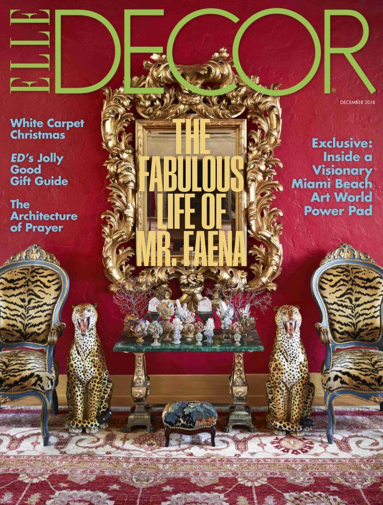 Elle Decor USA – December 2018