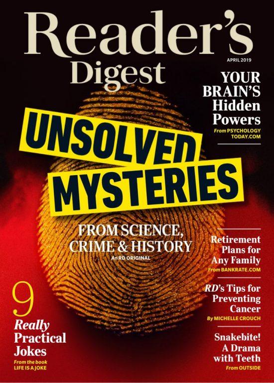 Reader's Digest USA – April 2019