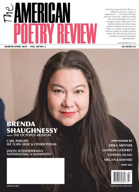 The American Poetry Review – March-April 2019