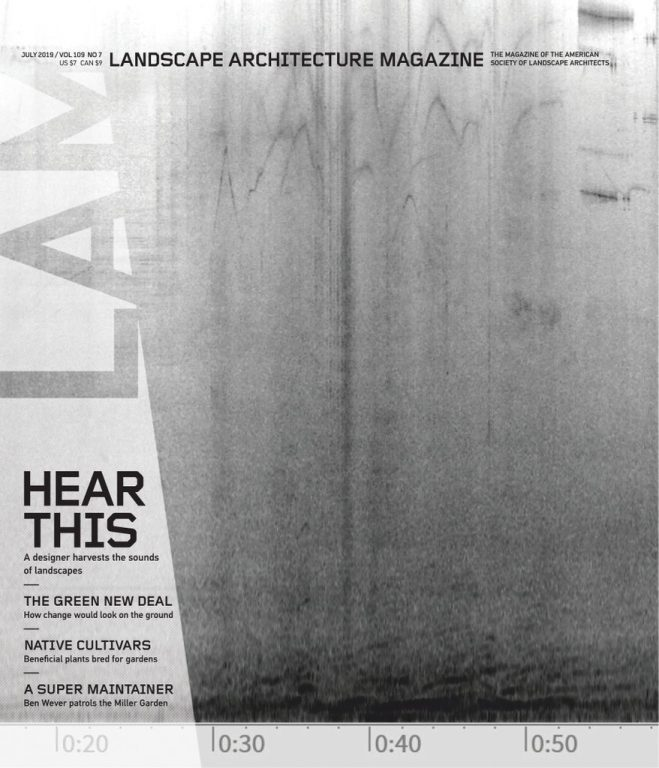 Landscape Architecture Magazine USA – July 2019